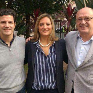 Candidatos. Laspina, Lehmann y Cantard, los tres primeros en la lista de postulantes a diputados nacionales.