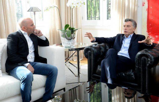 Mauricio Macri recibió a Jorge Sampaoli en la Quinta de Olivos
