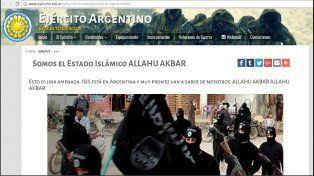 Hackearon la web del Ejército Argentino