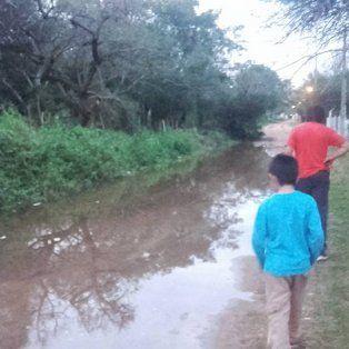 En Colastiné. La zona más afectada es la que está cerca del Club Caza y Pesca.