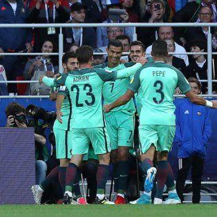 portugal vencio a rusia y encamino su clasificacion en la copa confederaciones