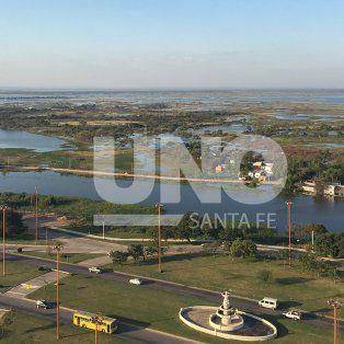 Desde lo más alto: así luce el río Paraná tras superar el nivel de alerta