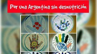Con un mural de manitos en mosaico buscan visibilizar el flagelo de la desnutrición infantil