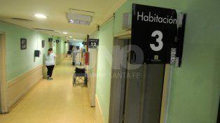 Pasillos del hospital Iturraspe.