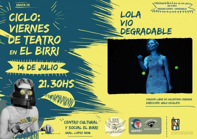 Lola Vio Degradable se presenta en El Birri