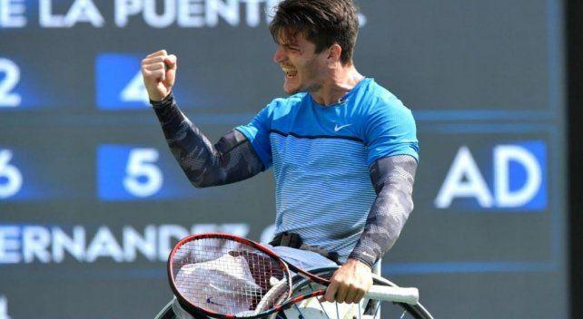 Gustavo Fernández lidera el ránking de tenis en silla de ruedas