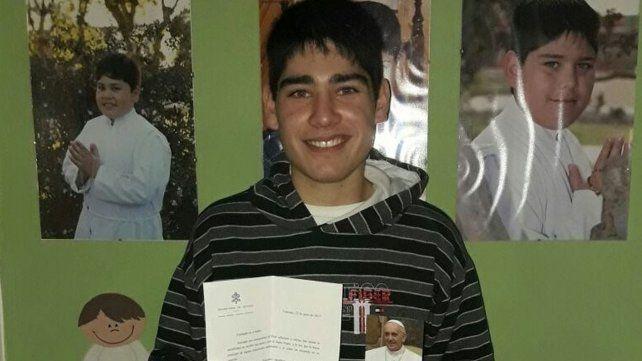 El papa Francisco le respondió a un adolescente santafesino