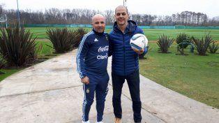 Sampaoli ahora se reunió con Sergio Hernández