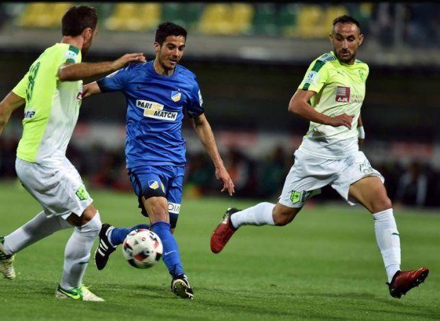 Bertoglio marcó un gol y Broun fue suplente en una ronda preliminar de la Liga de Campeones de Europa