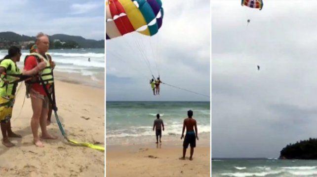 VIDEO: un turista murió haciendo parasailing en Tailandia
