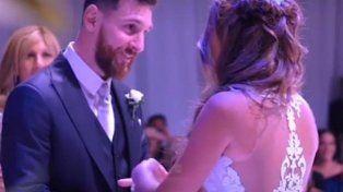 El video más esperado del casamiento de Messi: el momento en que el astro le coloca el anillo a Antonela