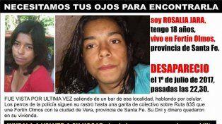 Buscamos a Rosalía Jara, la página de Facebook para poder encontrar a la joven