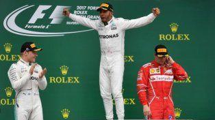 Fórmula 1: Lewis Hamilton ganó en Silverstone y festejó ante su público