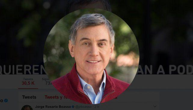 Luego del hackeo, Jorge Boasso recuperó su cuenta de Twitter