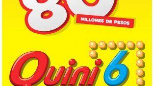 El Quini 6 quedó vacante y sorteará $80 millones