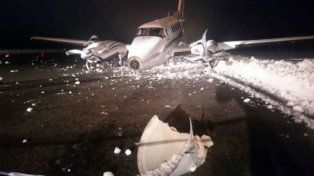 Un avión privado despistó por el hielo y el aeropuerto de Bariloche volvió a cerrarse