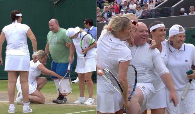 Las sacó de quicio, lo invitaron a jugar e hizo un papelón en Wimbledon