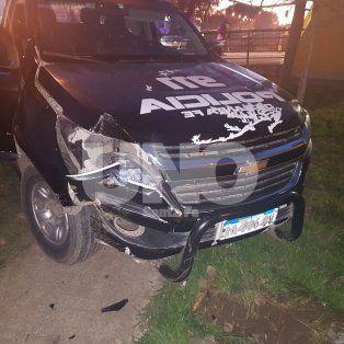 El patrullero fue baleado por los delincuentes