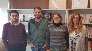 Dr. Esteban Montenovi (SPPDP), Luciano Vigoni,(Director Programa), Dra. Verónica Aimar y Defensora Provincial, Dra. Jaquelina Balangione.