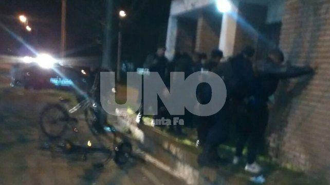 Violentos y presos: tiros y gresca con ocho detenidos en Santa Rosa de Lima