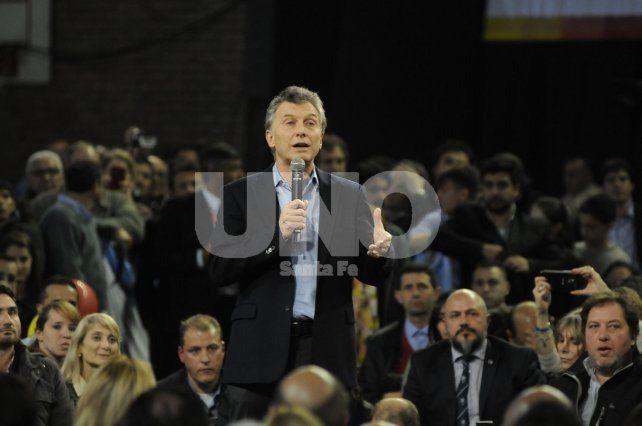 Mauricio Macri, en campaña, visitó Santa Fe: Nos dejaron el país en ruinas