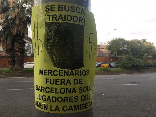Los hinchas de Barcelona se expresaron ante la salida inminente de Neymar