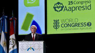 Lifschitz presidió el congreso de Aapresid y pidió por una agricultura de conservación