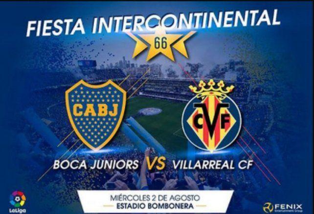 Villarreal presentó el amistoso frente a Boca con un sorprendente error