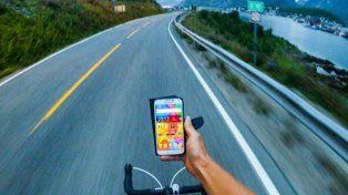 Un curioso detalle volvió viral la foto de este ciclista