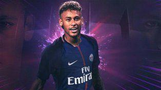 Es oficial: Neymar firmó con Paris Saint Germain hasta junio de 2022