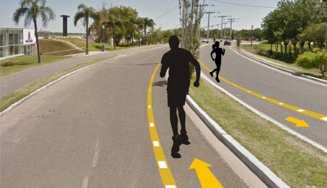 Se analizará demarcar sendas para corredores en Costanera Este