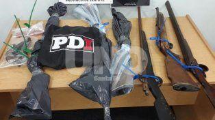 Alto Verde: arrestan a cinco violentos delincuentes y secuestran siete armas de fuego