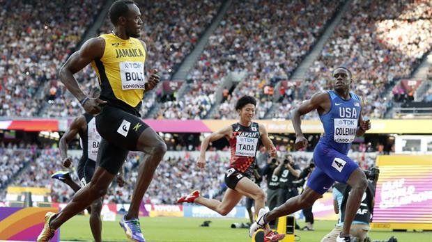 Usain Bolt fue segundo en su penúltima carrera