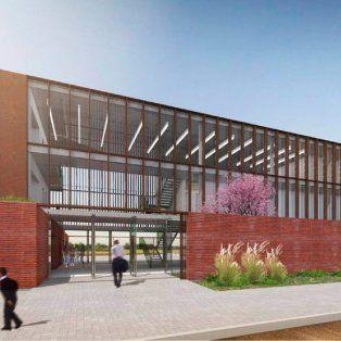 avanza la construccion del edificio de escuelas de trabajo en barranquitas sur