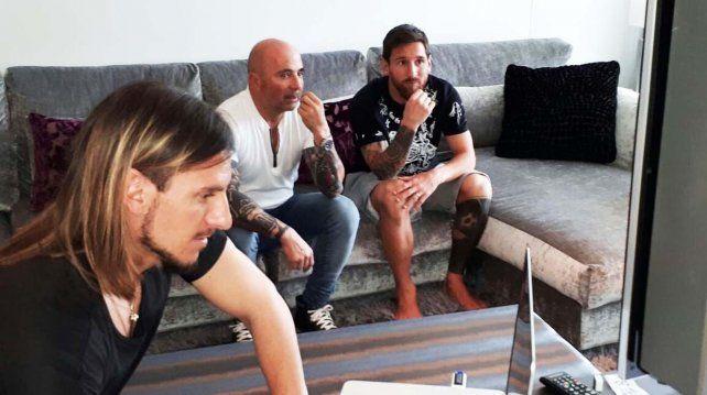 Llegó el turno de Lionel Messi: Jorge Sampaoli se reunió con la Pulga en Barcelona