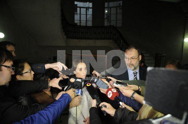 Los fiscales. Cristina Ferraro y Jorge Nessier.