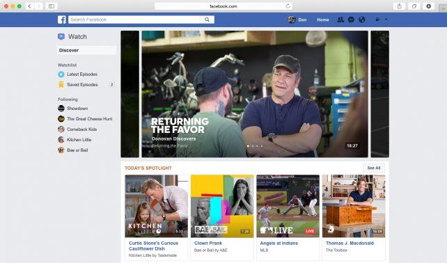 Facebook lanza Watch, una plataforma que busca destronar a Youtube