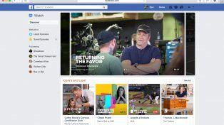 Facebook lanza Watch, una plataforma que busca destronar a Youtube