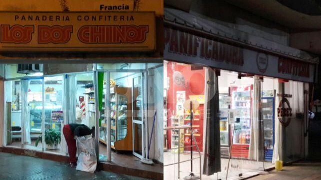 Los locales comerciales blanco de los delincuentes.