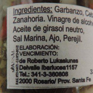 la assal prohibio el escabeche de mix de verduras sabores de lo natural