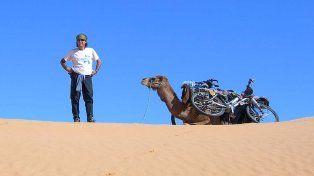Pablo García, el argentino que dio la vuelta al mundo en bicicleta, pasa por Santa Fe