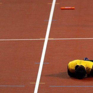 Las terribles imágenes de la lesión de Bolt en su despedida