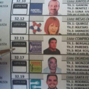 La lista. Bergallo fue una de las opciones que tuvieron los electores en la jornada del domingo.