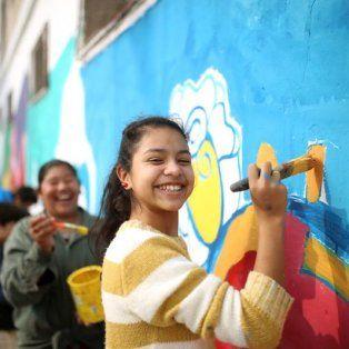 santa rosa de lima luce dos nuevos murales de creacion participativa