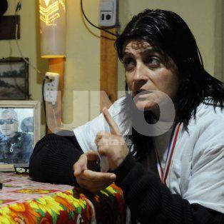 Desde su casa. Scarfone quiere justicia por su marido acribillado a balazos en Yapeyú.
