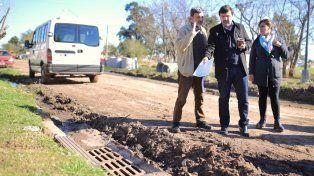 Supervisación. El secretario General municipal, Carlos Pereira, y el secretario de Recursos Hídricos, Felipe Franco, monitorearon los trabajos.