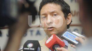 El fiscal. Estanislao Giavedoni fue quien dio una conferencia de prensa esta mañana.