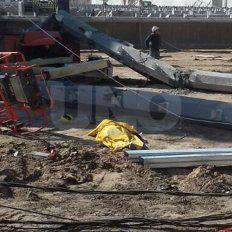 Murió un obrero de la Uocra y hubo varios heridos en una obra en el puerto de Timbúes