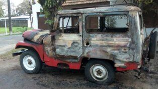 El concejal al que le incendiaron el auto dijo que fue 100% intencional