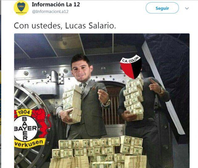 Los memes por la salida de Lucas Alario y la broma del club Sacachispas
